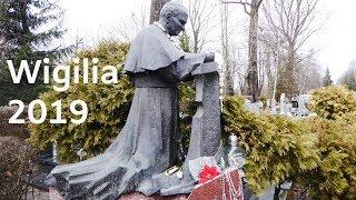 Wigilia 2019  Pomnik Papieża Jana Pawła na Cmentarz Rakowicki w Krakowie