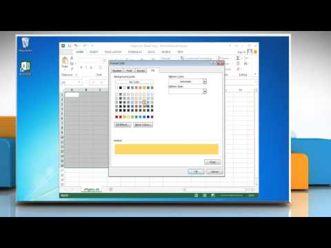 How to alternate the color between rows in Excel 2013 in Windows® 7