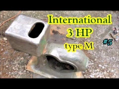 International 3 HP type M engine rust removal #5