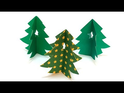 Super Easy Origami Christmas Tree 3D Tutorial | How to Make a Christmas Decoration 1 Papre