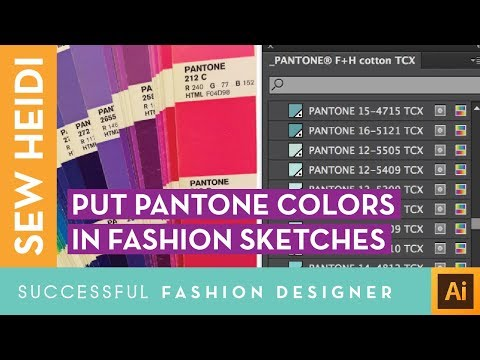 How to Color Your Fashion Flat Sketch with Pantone Swatches in Illustrator