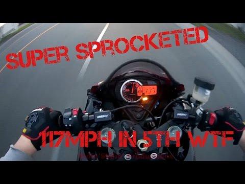 Sprocket Upgrade Riding Around 2014 GSXR 750