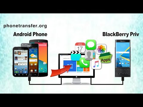 How to Transfer All Data from Android Phone to BlackBerry Priv, Sync Android with BlackBerry Priv