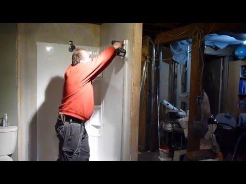 LOWE'S SHOWER SURROUND INSTALL #2(basement bath)