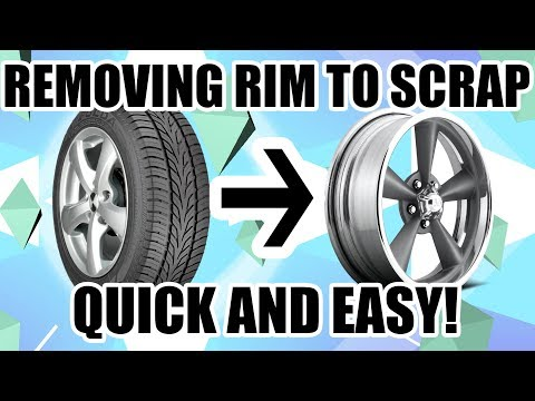Best Way I Know How To Get Tires Off Rims FAST & EASY - Scrapping a Pile of Aluminium Rims