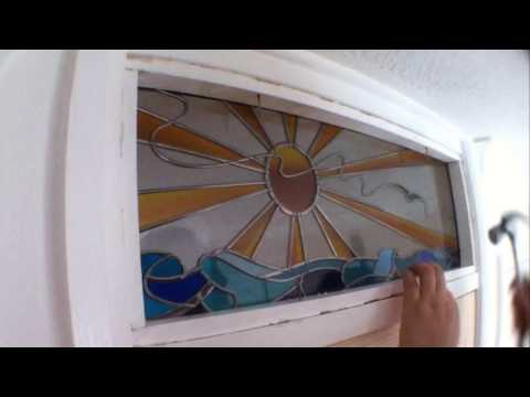 How to replace a fanlight glass window pane.
