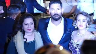 Jacqueline Fernandez, Yuvraj Singh With Wife At Isha Ambani Wedding 2018
