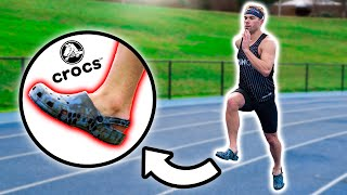 NEW 400 METER WORLD RECORD!!! ... (in Crocs)