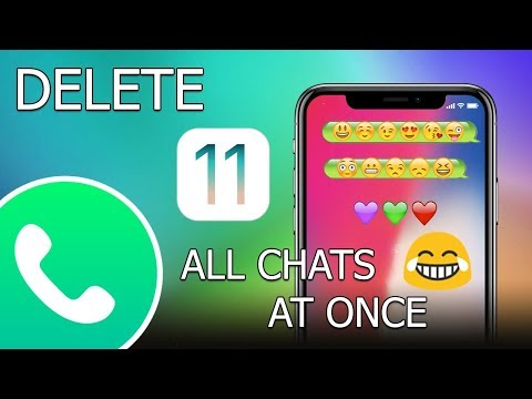 How to delete all WhatsApp chats at once on iPhone (iOS 11)