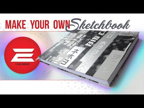 HOW TO Make Your own SKETCHBOOK! (without sewing)
