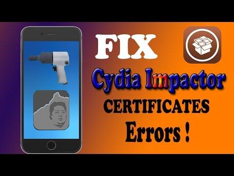 How To Fix Cydia Impactor Certificates ERRORS !! 🤔 - PakVim