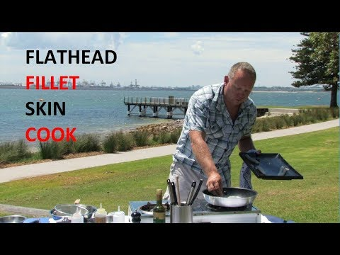 How to : Fillet Skin and Cook Flathead | The Hook and The Cook