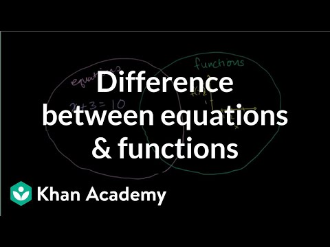 Difference between equations and functions | Functions and their graphs | Algebra II | Khan Academy