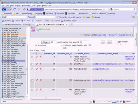 Wordpress SQL Demonstration