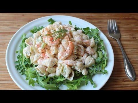 Shrimp & Pasta Shells Salad - Cold Macaroni Salad with Shrimp Recipe