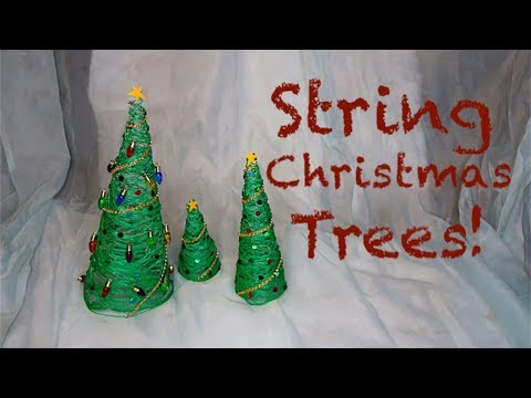 How To Make String Christmas Trees!!!
