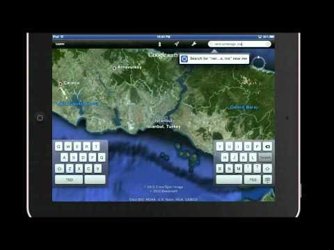 Google Earth iPad Tutorila 2: Searching