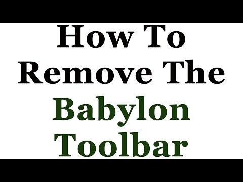 How To Remove The Babylon Toolbar From Internet Explorer, Firerfox & Google Chrome