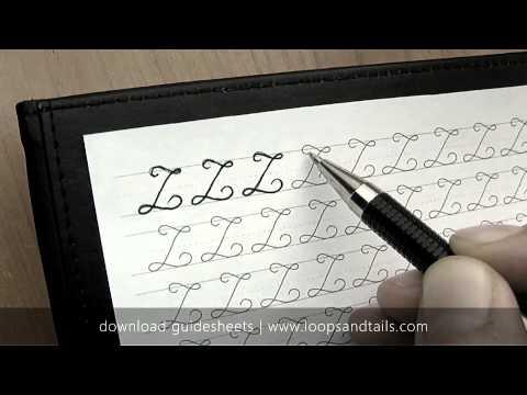 Learn cursive handwriting - Capital L