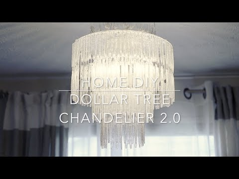 Dollar Tree Chandelier 2.0