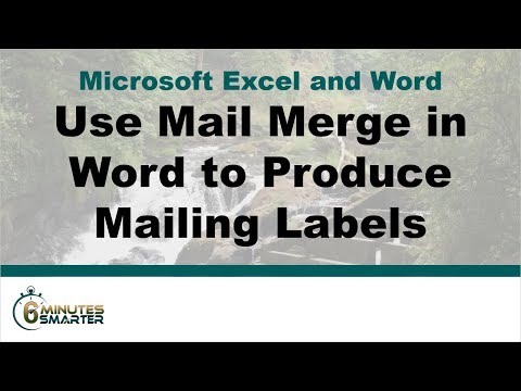 Create Mailing Labels in Word Using Mail Merge from Excel