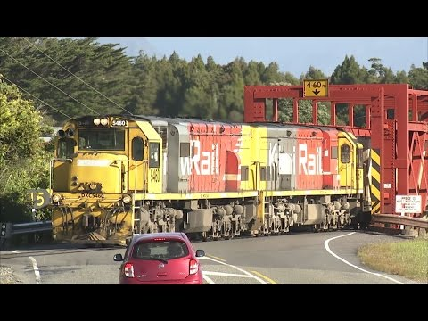 Milk train on the Hokitika Industrial Line,  Westland  New Zealand
