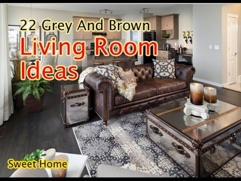 22 Grey And Brown Living Room Ideas