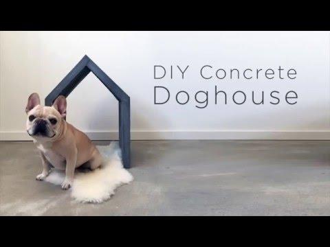 DIY Concrete Dog House