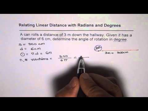 Relate Linear Distance Revolutions Degrees and Radians
