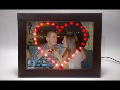 Demo Video - LED Heart Photo Frame