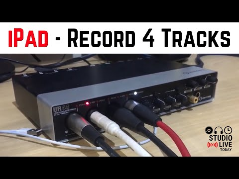 4 Input Recording in GarageBand iOS - Using multitrack recordingin GarageBand iOS (iPad/iPhone)