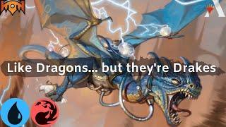 MTG Arena Top Decks - Izzet Drakes | Match 1 (Top 20 Mythic