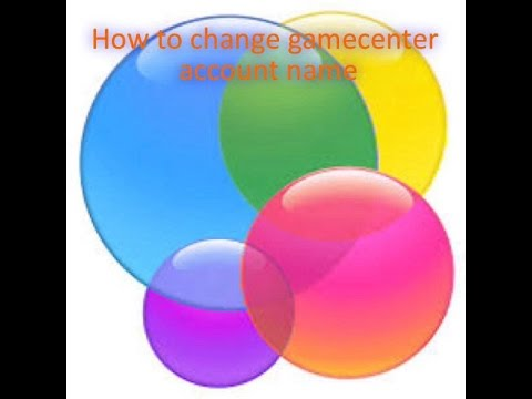 How to change gamecenter account name