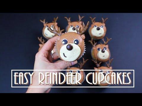 Easy Reindeer Cupcakes | CHELSWEETS