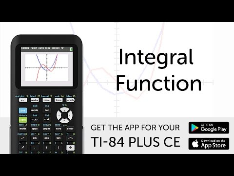 Integral Function - Manual for TI-84 Plus CE Graphing Calculator
