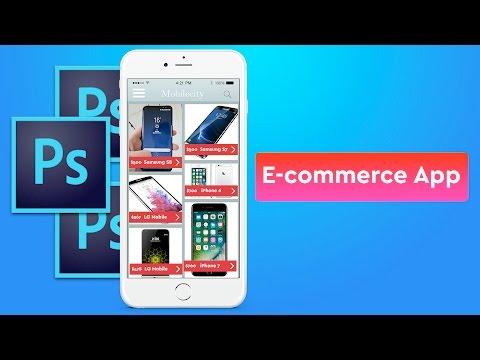 E commerce App Design in Photoshop
