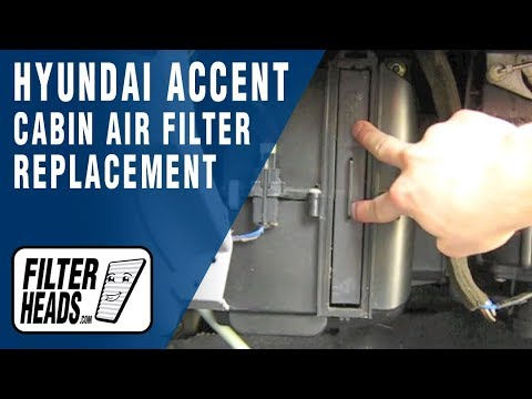How to Replace Cabin Air Filter Hyundai Accent