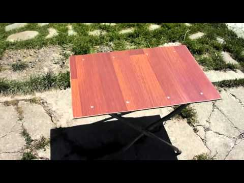 Homemade folding table picnic