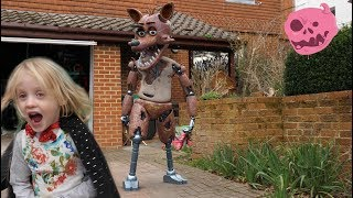 real fnaf springtrap foxy & chica vs kids - what happens?