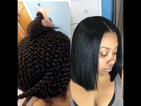 BLUNT CUT BOB SEW IN USING CLIPPERS: MINIMAL LEAVE OUT
