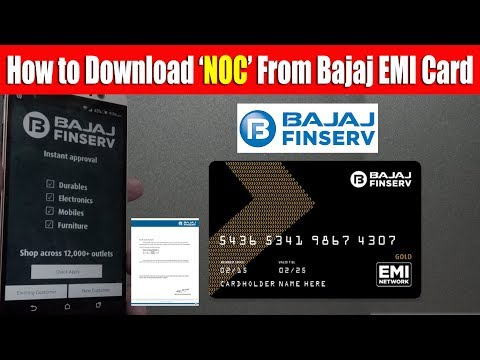 How to Download NOC from Bajaj EMI Card and Check EMI