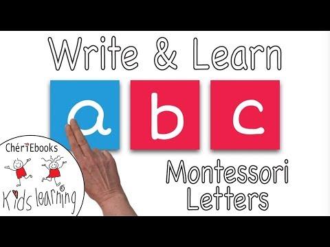 Learn & Write English Alphabet    Montessori Letters   Tracing Activity