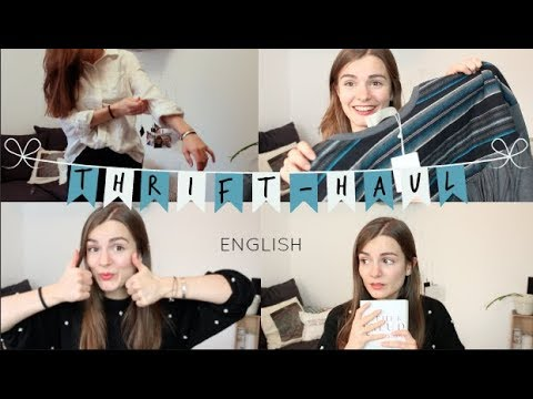 UK Thrift Haul (CLOTHES & BOOKS) - in english