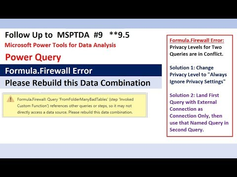 Formula.Firewall Error in Power Query & Power BI: Rebuild This Data Combination Solved (MSPTDA 9.5)