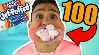 KID CAN FIT 100 MARSHMALLOWS IN HIS MOUTH!