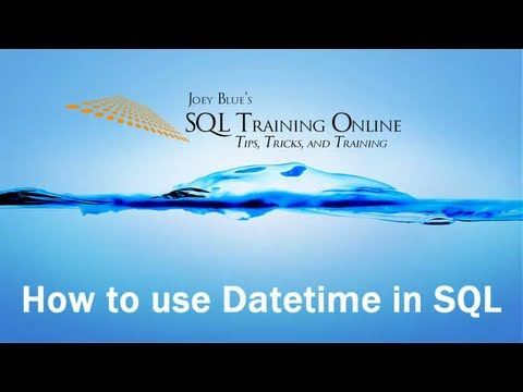 How to Use Datetime in SQL - SQL Training Online