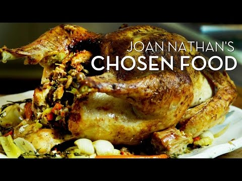 Joan Nathan's Brined Turkey with Challah Chestnut Stuffing