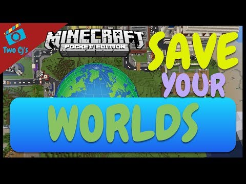 How to Save, Backup, and Restore  Minecraft PE Worlds