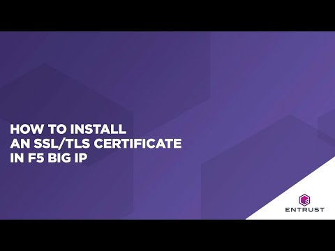 How to Install an SSL/TLS certificate in F5 Big IP