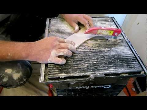 How to cut a curved piece of ceramic tile